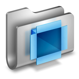 256x256px size png icon of DropBox Metal Folder