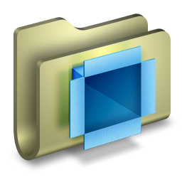 256x256px size png icon of Dropbox Folder