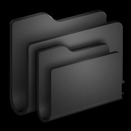 256x256px size png icon of Folders Black Folder