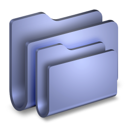 256x256px size png icon of Folders Blue Folder