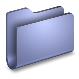 256x256px size png icon of Generic Blue Folder