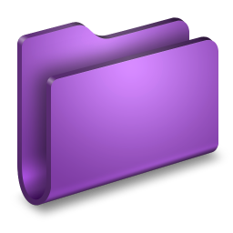 256x256px size png icon of Generic Purple Folder