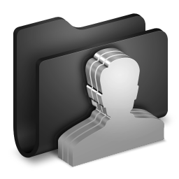 256x256px size png icon of Group Black Folder