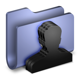 256x256px size png icon of Group Blue Folder