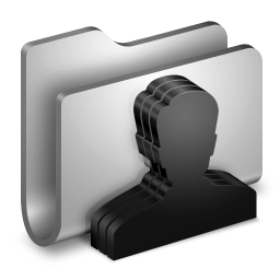 256x256px size png icon of Group Metal Folder