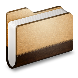 256x256px size png icon of Library Brown Folder