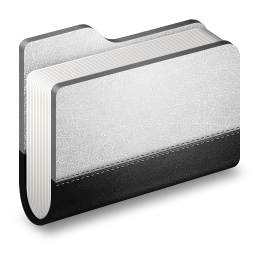 256x256px size png icon of Llibrary Metal Folder