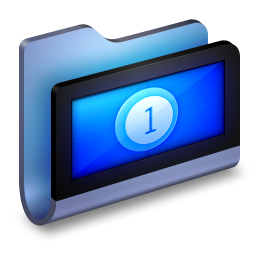 256x256px size png icon of Movies Blue Folder