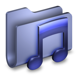 256x256px size png icon of Music Blue Folder
