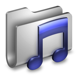 256x256px size png icon of Music Metal Folder