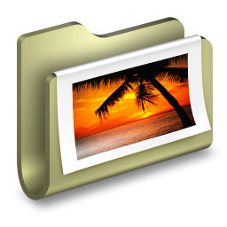 256x256px size png icon of Photos Folder