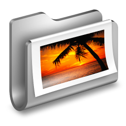 256x256px size png icon of Photos Metal Folder