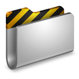256x256px size png icon of Projects Metal Folder