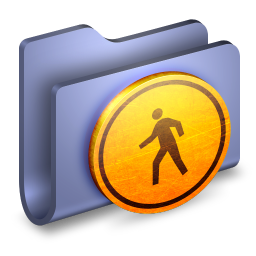 256x256px size png icon of Public Blue Folder