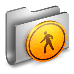 256x256px size png icon of Public Metal Folder
