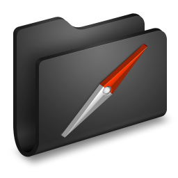 256x256px size png icon of Sites Black Folder