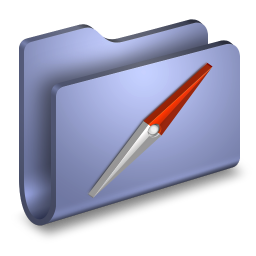 256x256px size png icon of Sites Blue Folder