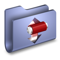 256x256px size png icon of Torrents Blue Folder