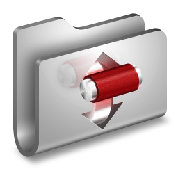 256x256px size png icon of Torrents Metal Folder