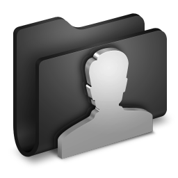 256x256px size png icon of User Black Folder