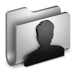256x256px size png icon of User Metal Folder