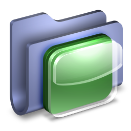256x256px size png icon of iOS Icons Blue Folder