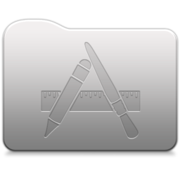 256x256px size png icon of Aluminum folder   Applications