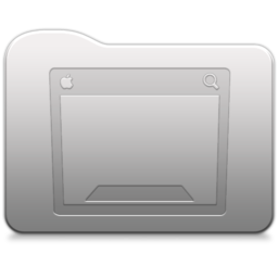 256x256px size png icon of Aluminum folder   Desktop