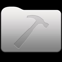 256x256px size png icon of Aluminum folder   Developer