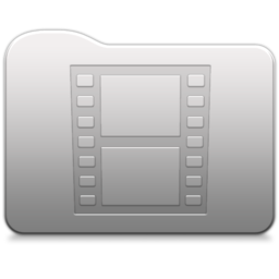 256x256px size png icon of Aluminum folder   Movies