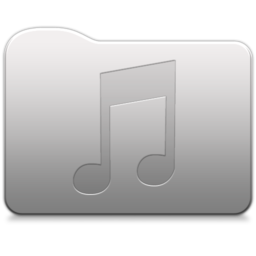 256x256px size png icon of Aluminum folder   Music