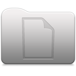 256x256px size png icon of Aluminum folder   document