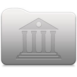 256x256px size png icon of Aluminum folder   library