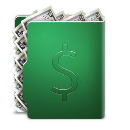 256x256px size png icon of dollar folder
