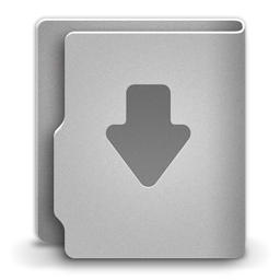 256x256px size png icon of Download alt 2