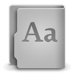 256x256px size png icon of Font
