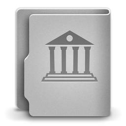 256x256px size png icon of Library alt