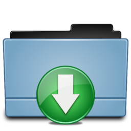 256x256px size png icon of Folder Download