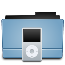 256x256px size png icon of Folder Ipod(White)
