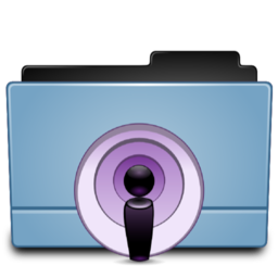 256x256px size png icon of Folder Podcast