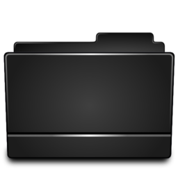 256x256px size png icon of Folder black