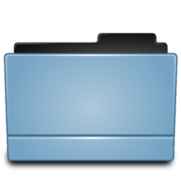 256x256px size png icon of Folder blue (Leopard)