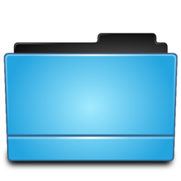 256x256px size png icon of Folder blue