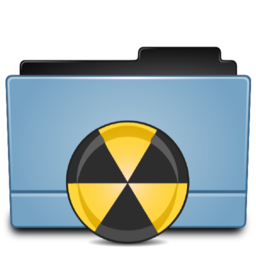 256x256px size png icon of Folder burn