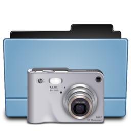 256x256px size png icon of Folder camera