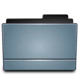 256x256px size png icon of Folder graphite