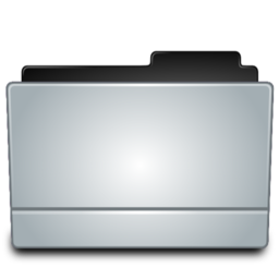 256x256px size png icon of Folder gray