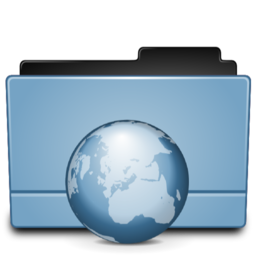 256x256px size png icon of Folder internet