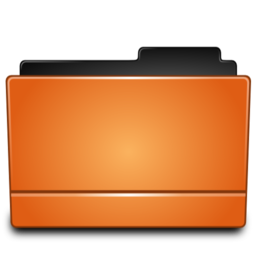 256x256px size png icon of Folder orange