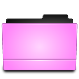 256x256px size png icon of Folder pink